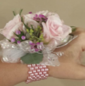 Pink Spray rose corsage