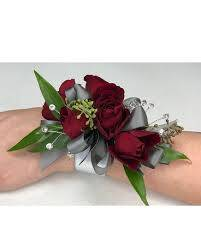 Spray Rose corsage with gems