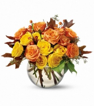 Spray Rose Harvest Fall Arrangement in Lauderhill, FL | A ROYAL BLOOM FLOWERS & GIFTS
