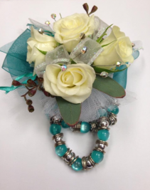 Spray Rose Wrist Corsage with Bracelet