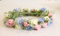 Spray Roses & Delphinium Flower Crown