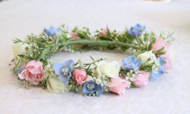 Spray Roses & Delphinium Flower Crown