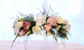 Spray roses, Lisianthus & Orchids Flower Crown