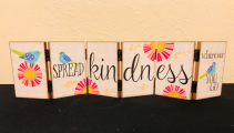 Spread Kindness Hinged Decor Blocks