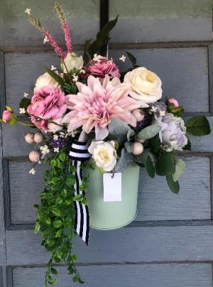 Spring hanging door bucket  in Eagle, ID | HOPE BLOOMS FLOWERS & THINGS