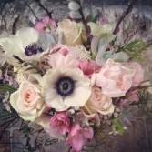 Spring Anemones  Bridal Bouquet