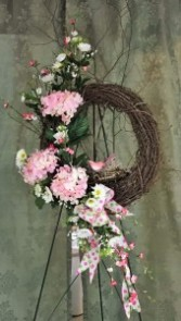 Spring Awakening Grapevine Wreath Spring flowers