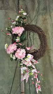 Spring Awakening Grapevine Wreath Spring flowers