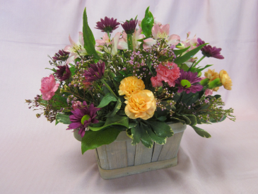 Spring Basket Bouquet, $55.00 Local Delivery Only