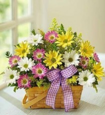 Spring Basket fresh flowers