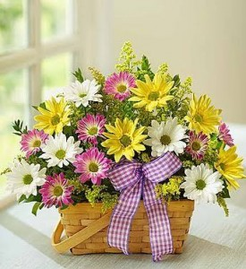 Spring Basket fresh flowers