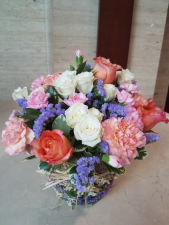 Spring Fever Basket of Flowers
