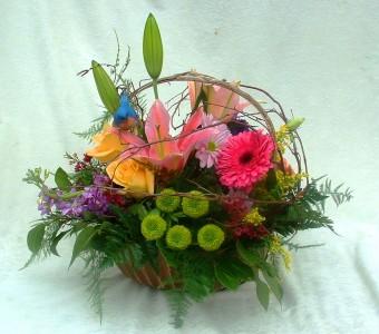 Spring Basket Spring Arrangement