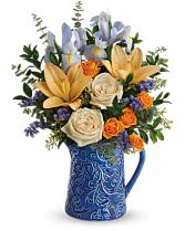 Spring Beauty  Pitcher Bouquet