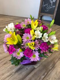 Spring Bliss Cube Arrangement