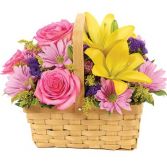 Spring Blossoms Basket Arrangement