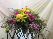 Spring Blossoms Fresh Casket Arrangement