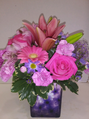 Darby's Spring Blush Arrangement in Coral Springs, FL | DARBY'S FLORIST