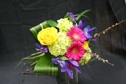 Seasonal Bright Bouquet hand tied cut bouquet