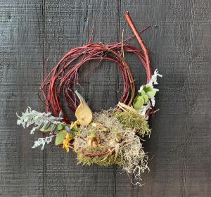 Spring Wreath - Medium  in Hardwick, VT   THE FLOWER BASKET