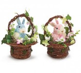 Spring Bunny Basket* Home Decor