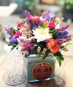 Spring  Candle Bouquet in Huntington, TX | LIZA'S GARDEN