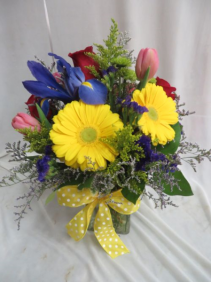 Spring Celebration Fresh Mixed Vased Arrangement