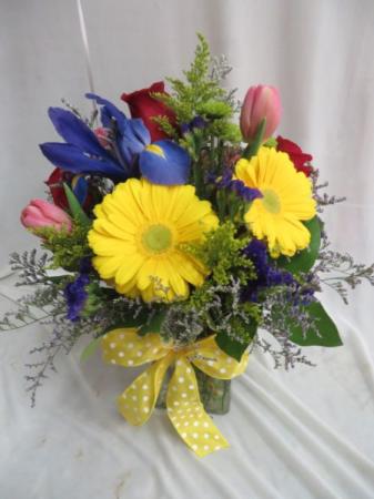 Spring Celebration Fresh Mixed Vased Arrangement