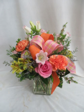 Spring Cheer Fresh Mixed Vased Arrangement