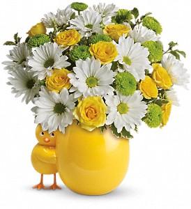 Spring Chickadee Vase