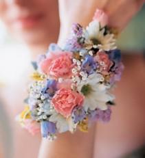Spring color wristlet