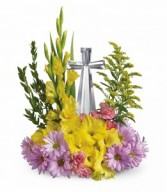 Spring Crystal Cross by Teleflora