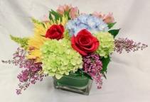 Spring Cube Floral Arrangement