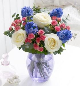Spring Day Hyacinth, Spray Roses, Roses
