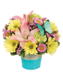 Spring Desk Tin Bouquet