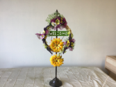 Spring door wreath  Customize your wreath in a wide variety of sizes and colors