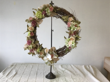 Spring door wreath  Custom grapevine wreaths
