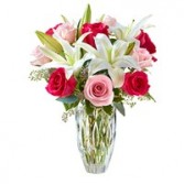 Spring Elegance Roses and Lilies