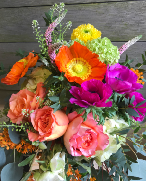 Vibrant Explosion vase in Northport, NY | Hengstenberg's Florist
