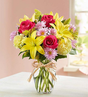 Spring Fields Vase Arrangement in Gladewater, TX | GLADEWATER FLOWERS & MORE