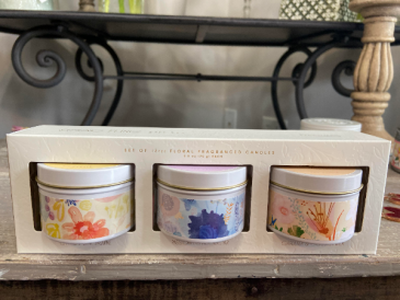 Spring Fling Trio Candle set  Candle Set