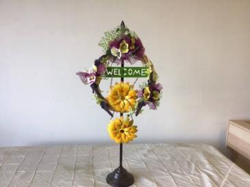 Spring floral wreath Custom door wreaths available