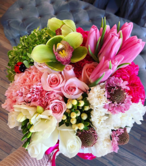 Spring into Summer Flower Box Assorted Flowers in Sparta, NJ | Bluet Flower Co.