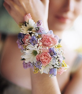 Spring Flowers Wrist Corsage