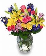 Christina's spring fun mixed floral arrangement