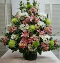 Spring Funeral Spray Sympathy Arrangement