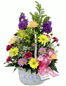 Spring Garden  Basket Arrangement