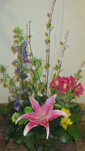 Spring Garden Basket Inspirations Original Design in Lock Haven, PA | INSPIRATIONS FLORAL STUDIO