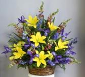 Spring Garden Floral Basket