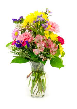 Butterfly Meadow Vase arrangement